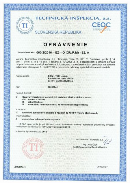 eximtech-certifikat